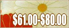 kimonos $61.00 - $80.00