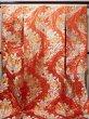 Photo1: Mint F1202B Used Japanese Kimono  Deep Orange UCHIKAKE Wedding by Silk. Flower  (Grade A) (1)