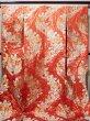 Photo2: Mint F1202B Used Japanese Kimono  Deep Orange UCHIKAKE Wedding by Silk. Flower  (Grade A) (2)