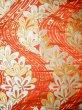 Photo4: Mint F1202B Used Japanese Kimono  Deep Orange UCHIKAKE Wedding by Silk. Flower  (Grade A) (4)