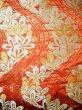 Photo5: Mint F1202B Used Japanese Kimono  Deep Orange UCHIKAKE Wedding by Silk. Flower  (Grade A) (5)