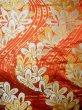 Photo6: Mint F1202B Used Japanese Kimono  Deep Orange UCHIKAKE Wedding by Silk. Flower  (Grade A) (6)