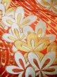 Photo7: Mint F1202B Used Japanese Kimono  Deep Orange UCHIKAKE Wedding by Silk. Flower  (Grade A) (7)