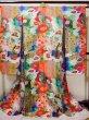 Photo3: Mint F1202C Used Japanese Kimono  Shiny Purple UCHIKAKE Wedding by Silk. Peacock  (Grade A+) (3)