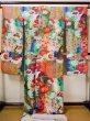 Photo4: Mint F1202C Used Japanese Kimono  Shiny Purple UCHIKAKE Wedding by Silk. Peacock  (Grade A+) (4)
