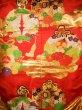 Photo6: G0805E Used Japanese Kimono   Red UCHIKAKE Wedding by Silk. TSUDUMI hand drum  (Grade B) (6)