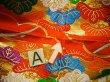 Photo20: G0805S Used Japanese Kimono   Vermilion UCHIKAKE Wedding by Silk. Folding fan  (Grade A) (20)