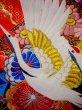 Photo15: G0805V Used Japanese Kimono  Bright Red UCHIKAKE Wedding by Silk. Crane  (Grade A) (15)
