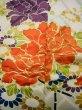 Photo13: I0107L Used Japanese Kimono   Blue FURISODE long-sleeved / Silk. Flower  (Grade A) (13)
