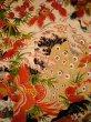 Photo5: I0107T Used Japanese Kimono  Smoky Off White FURISODE long-sleeved / Silk. Peacock, MEIJI era (Grade D) (5)