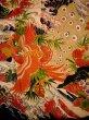 Photo6: I0107T Used Japanese Kimono  Smoky Off White FURISODE long-sleeved / Silk. Peacock, MEIJI era (Grade D) (6)