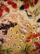Photo7: I0107T Used Japanese Kimono  Smoky Off White FURISODE long-sleeved / Silk. Peacock, MEIJI era (Grade D) (7)