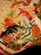 Photo9: I0107T Used Japanese Kimono  Smoky Off White FURISODE long-sleeved / Silk. Peacock, MEIJI era (Grade D) (9)