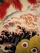Photo12: I0107T Used Japanese Kimono  Smoky Off White FURISODE long-sleeved / Silk. Peacock, MEIJI era (Grade D) (12)