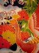 Photo14: I0107T Used Japanese Kimono  Smoky Off White FURISODE long-sleeved / Silk. Peacock, MEIJI era (Grade D) (14)