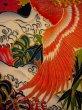 Photo15: I0107T Used Japanese Kimono  Smoky Off White FURISODE long-sleeved / Silk. Peacock, MEIJI era (Grade D) (15)