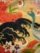 Photo20: I0107T Used Japanese Kimono  Smoky Off White FURISODE long-sleeved / Silk. Peacock, MEIJI era (Grade D) (20)