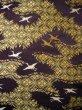 Photo6: I0112C Used Japanese Kimono Smoky Dark Purple UCHIKAKE Wedding / Silk. Crane  (Grade D) (6)