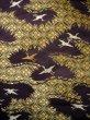 Photo7: I0112C Used Japanese Kimono Smoky Dark Purple UCHIKAKE Wedding / Silk. Crane  (Grade D) (7)