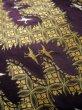 Photo8: I0112C Used Japanese Kimono Smoky Dark Purple UCHIKAKE Wedding / Silk. Crane  (Grade D) (8)