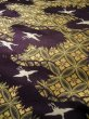 Photo9: I0112C Used Japanese Kimono Smoky Dark Purple UCHIKAKE Wedding / Silk. Crane  (Grade D) (9)