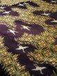 Photo10: I0112C Used Japanese Kimono Smoky Dark Purple UCHIKAKE Wedding / Silk. Crane  (Grade D) (10)
