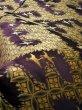 Photo12: I0112C Used Japanese Kimono Smoky Dark Purple UCHIKAKE Wedding / Silk. Crane  (Grade D) (12)