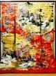 Photo2: I0112H Used Japanese Kimono  Deep Red UCHIKAKE Wedding / Silk. Crane  (Grade B) (2)