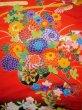 Photo6: I0112H Used Japanese Kimono  Deep Red UCHIKAKE Wedding / Silk. Crane  (Grade B) (6)