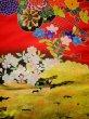 Photo7: I0112H Used Japanese Kimono  Deep Red UCHIKAKE Wedding / Silk. Crane  (Grade B) (7)