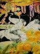 Photo12: I0112H Used Japanese Kimono  Deep Red UCHIKAKE Wedding / Silk. Crane  (Grade B) (12)