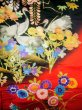 Photo13: I0112H Used Japanese Kimono  Deep Red UCHIKAKE Wedding / Silk. Crane  (Grade B) (13)
