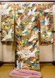 Photo3: J0219C Used Japanese   Multi Color UCHIKAKE Wedding by Silk. Crane  (Grade A+) (3)