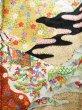 Photo5: Mint J1223D Used Japanese   Black FURISODE long-sleeved / Silk. UME plum bloom,   (Grade A) (5)
