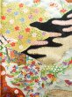 Photo7: Mint J1223D Used Japanese   Black FURISODE long-sleeved / Silk. UME plum bloom,   (Grade A) (7)