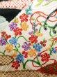 Photo11: Mint J1223D Used Japanese   Black FURISODE long-sleeved / Silk. UME plum bloom,   (Grade A) (11)