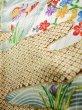 Photo13: Mint J1223D Used Japanese   Black FURISODE long-sleeved / Silk. UME plum bloom,   (Grade A) (13)