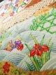 Photo14: Mint J1223D Used Japanese   Black FURISODE long-sleeved / Silk. UME plum bloom,   (Grade A) (14)