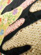 Photo16: Mint J1223D Used Japanese   Black FURISODE long-sleeved / Silk. UME plum bloom,   (Grade A) (16)