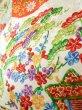 Photo17: Mint J1223D Used Japanese   Black FURISODE long-sleeved / Silk. UME plum bloom,   (Grade A) (17)