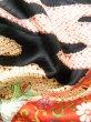 Photo19: Mint J1223D Used Japanese   Black FURISODE long-sleeved / Silk. UME plum bloom,   (Grade A) (19)