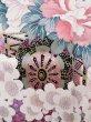Photo10: Mint J1223R Used Japanese Pale Light Pink FURISODE long-sleeved / Silk. Flower, narcissus pattern, flower cart  (Grade A) (10)