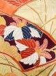 Photo8: J1225H Used Japanese Pale  Yellow FURISODE long-sleeved / Silk. Chrysanthemum,   (Grade B) (8)