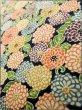 Photo8: K0317B Used Japanese   Indigo Blue KOMON dyed / Silk. Chrysanthemum   (Grade B) (8)