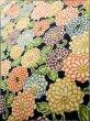 Photo9: K0317B Used Japanese   Indigo Blue KOMON dyed / Silk. Chrysanthemum   (Grade B) (9)