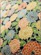 Photo10: K0317B Used Japanese   Indigo Blue KOMON dyed / Silk. Chrysanthemum   (Grade B) (10)