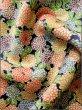 Photo11: K0317B Used Japanese   Indigo Blue KOMON dyed / Silk. Chrysanthemum   (Grade B) (11)