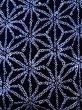 Photo5: K0526B Used Japanese   Indigo Blue YUKATA summer(made in Japan) / Cotton. Hemp leaf Arimatsu-Shibori, made in 1980-1990  (Grade D) (5)