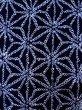 Photo6: K0526B Used Japanese   Indigo Blue YUKATA summer(made in Japan) / Cotton. Hemp leaf Arimatsu-Shibori, made in 1980-1990  (Grade D) (6)