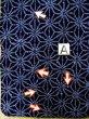 Photo12: K0526B Used Japanese   Indigo Blue YUKATA summer(made in Japan) / Cotton. Hemp leaf Arimatsu-Shibori, made in 1980-1990  (Grade D) (12)